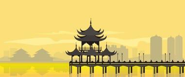 Здание Китая национальное Стоковые Изображения