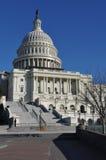 Здание конгресса США в зиме Стоковая Фотография