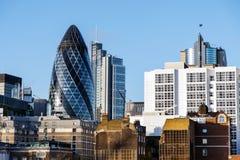 Здание корнишона в Лондоне, Великобритании Стоковые Фото