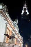Здание Крайслера и грандиозная центральная станция Стоковые Изображения