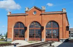 Здание музея оборудования войск посадки Технический музей k g sakharov Togliatti стоковые фото