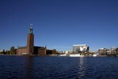 здание муниципалитет stockholm Стоковое фото RF