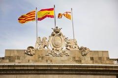 Здание муниципалитет Барселоны Стоковые Фотографии RF