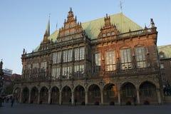 Здание муниципалитет Бремена, Германии Стоковые Изображения RF