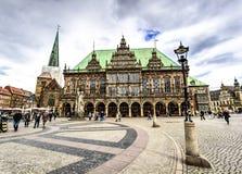 Здание муниципалитет Бремен, Германия Стоковая Фотография