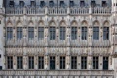 Здание муниципалитет Брюссель фасада, Бельгия Стоковое Изображение RF