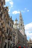 Здание муниципалитет Брюсселя на Grote Markt, Бельгии Стоковое фото RF