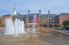 Здание муниципалитет в Александрии, Вирджинии Стоковое фото RF