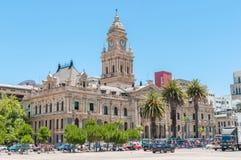 Здание муниципалитет в Кейптауне, Южной Африке Стоковая Фотография RF