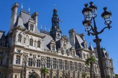 Здание муниципалитет в Париже Стоковое Изображение RF
