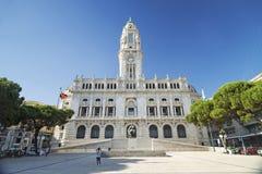 Здание муниципалитет в Порту Португалии Стоковые Изображения RF