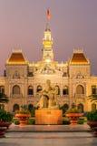 Здание муниципалитет в Хошимине, Вьетнаме Стоковая Фотография RF