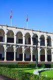 Здание муниципалитет в Arequipa, Перу Стоковая Фотография RF