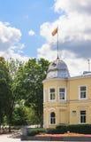 Здание муниципалитет в Druskininkai Литва Стоковое фото RF