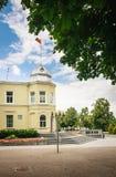 Здание муниципалитет в Druskininkai Литва Стоковые Изображения