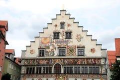 Здание муниципалитет в Lindau Стоковое Изображение RF