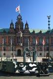 Здание муниципалитет в Malmo стоковое фото rf