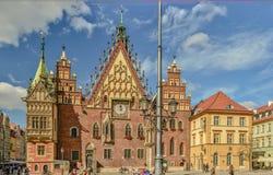 Здание муниципалитет в Wroclaw 2013 Стоковые Изображения