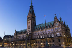 Здание муниципалитет Гамбурга в Германии Стоковая Фотография RF