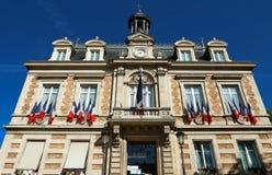 Здание муниципалитет городка Maisons Laffitte, около Парижа, Франция Стоковое Фото