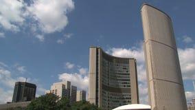 Здание муниципалитет городской Торонто, Канада сток-видео