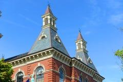 Здание муниципалитет Глостера, Род-Айленд, США стоковые фото