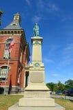 Здание муниципалитет Глостера, Род-Айленд, США стоковое фото