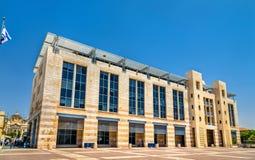 Здание муниципалитет Иерусалима Стоковая Фотография