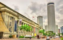 Здание муниципалитет, историческое здание в Сингапуре Стоковые Фотографии RF