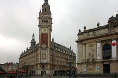 Здание муниципалитет и опера, Лилль, шаг de Кале Nord, Франция Стоковая Фотография