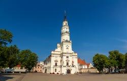 Здание муниципалитет Каунаса - Литва Стоковое фото RF