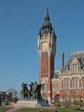 Здание муниципалитет Кале, Франции стоковая фотография rf