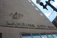 Здание муниципалитет Лансинга Стоковые Изображения RF
