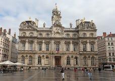 Здание муниципалитет Лиона, Франция Стоковые Фото