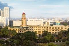 Здание муниципалитет Манилы, Филиппины стоковое изображение rf