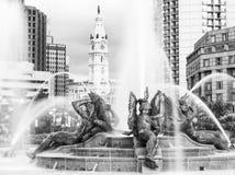 Здание муниципалитет муравья фонтанов, Филадельфия, Пенсильвания Стоковое Изображение RF
