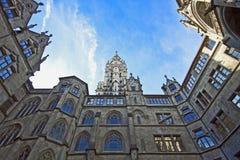Здание муниципалитет Мюнхена от двора Стоковые Изображения