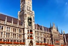 Здание муниципалитет Мюнхена Стоковые Изображения