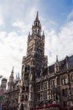Здание муниципалитет Мюнхена Стоковое Изображение