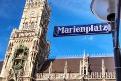 Здание муниципалитет Мюнхена Стоковое фото RF