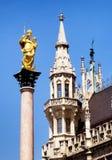 Здание муниципалитет Мюнхена Стоковое Изображение RF