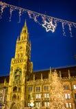 Здание муниципалитет Мюнхена Стоковые Фото