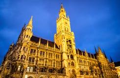 Здание муниципалитет Мюнхена Стоковые Фотографии RF