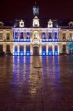Здание муниципалитет на ноче Стоковая Фотография