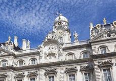 Здание муниципалитет на des Terreaux места, Лионе, Лионе стоковые фотографии rf