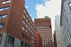 Здание муниципалитет Осло, Норвегии Стоковые Изображения RF