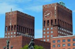 Здание муниципалитет Осло (Осло RÃ¥dhus) Стоковое фото RF