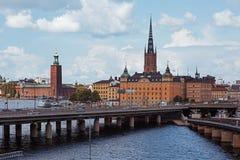Здание муниципалитет Стокгольма Стоковое Изображение RF