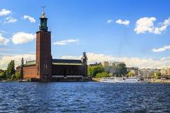 Здание муниципалитет Стокгольма стоковая фотография