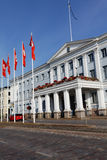 Здание муниципалитет Хельсинки, Финляндии Стоковое Изображение RF